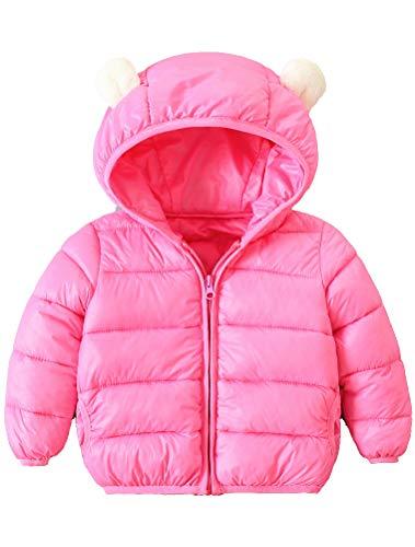 ARAUS-Baby Winter Jacke Jungen Mädchen Mäntel mit Kapuze Herbst Winter wattierte Jacke warme Steppjacke 0-4 Alter