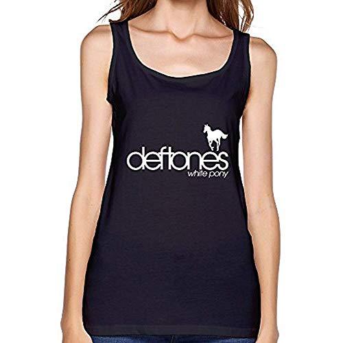 NA GFTYEUW Black Tank Top for Women Love Deftones Gore Tour Poster Size:M