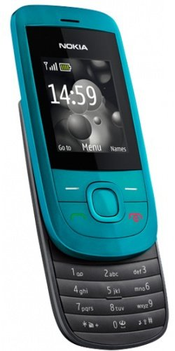 Nokia 2220 Slide Handy (MP3, GPRS, Ovi Mail. Flugmodus) Turquoise
