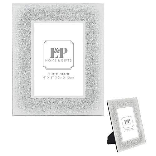 Lesser & Pavey Silver Glitter Photo Frame