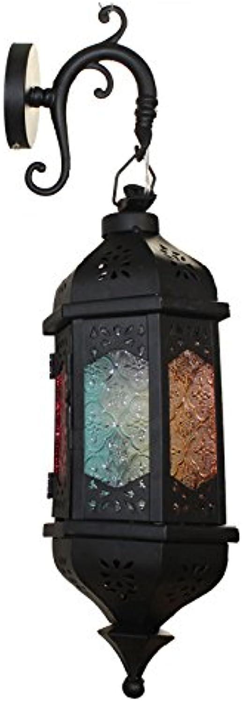 StiefelU LED Wandleuchte nach oben und unten Wandleuchten Bis zu sieben farbigen Glas Eisen Wandleuchten bar Kaffee Cafe 120  120  420 (mm)