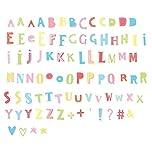 A Little Lovely Company LTLE024 - Letras y símbolos Funky Color Para Lightbox