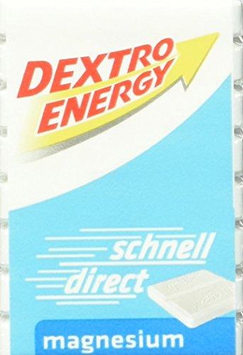 Dextro Energy Würfel Magnesium / Je 8 Dextrose-Täfelchen mit schnell verfügbarem Traubenzucker und zusätzlichem Magnesium / Geeignet für den Sport / 46g