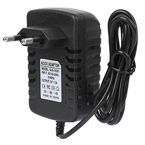 Adaptador Tipo C Adaptador de Corriente 5V 3A Electrónica UE Luz indicadora de Enchufe para decodificadores para portátiles y cámaras de Seguridad para enrutadores