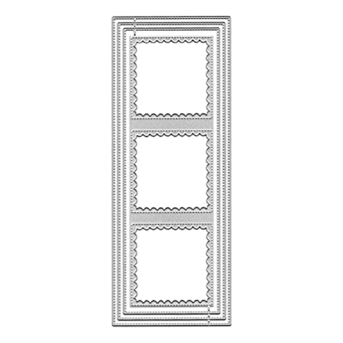 Plantilla de corte de metal con borde de fondo para manualidades, álbum de recortes, plantilla de papel en relieve, decoración artesanal, cenefa, molde en relieve
