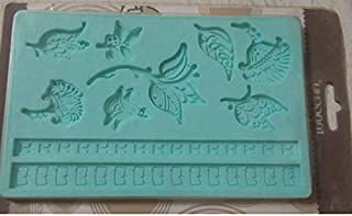 S.Han Silicone Leaf & Petal Exotic Fondant Mould Mold Baking Cake Decorating Tool Clay Art Craft Resin