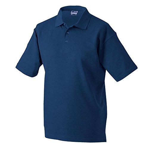 James & Nicholson, maglietta polo da uomo in tessuto piqué, taglia M, Uomo, JN020, blu navy, S