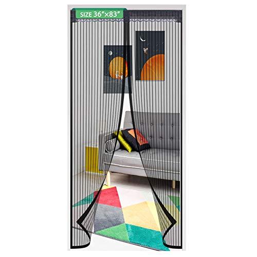Magnetic Screen Door Mesh Curtain 36x83 Inch,Easy Install Screen Door Magnetic Door Screen Fiberglass Pet Friendly Sliding Door Screen Door Mesh Door Screen Door Net (a)