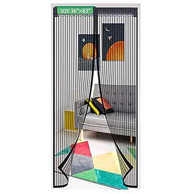 Magnetic Screen Door Mesh Curtain 36x83 Inch,Ea...
