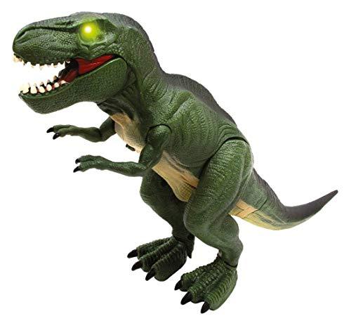 RC TECNIC Tiranosaurio Rex Dinosaurio Electronico ¡Mueve Las piernas y ruge! Figura T Rex Dinosaurios Juguetes, Regalo para Niños