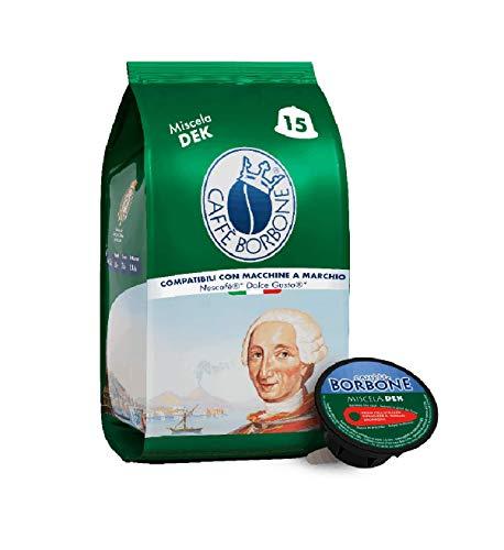 Caffè Borbone Miscela Decaffeinata - 90 capsule (6 confezioni da 15) - Compatibili con le Macchine Nescafè®* Dolce Gusto®*