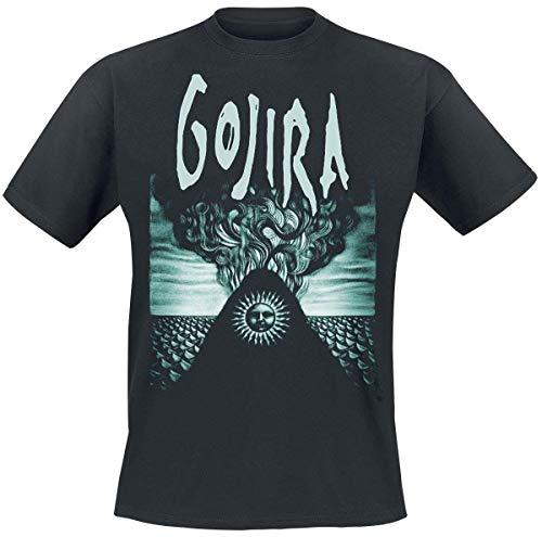 Gojira Elements Uomo T-Shirt Nero L 100% Cotone Regular
