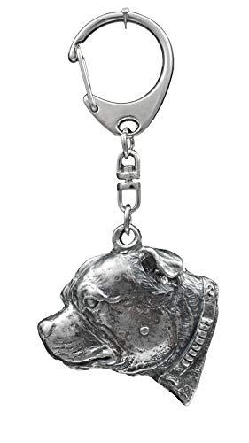 Staffordshire Bull Terrier, Staffordshire Bullterrier, Hund, Silber, Schmuckanhänger, Anhänger, Schlüsselanhänger, Limitierte Edition, Art Dog