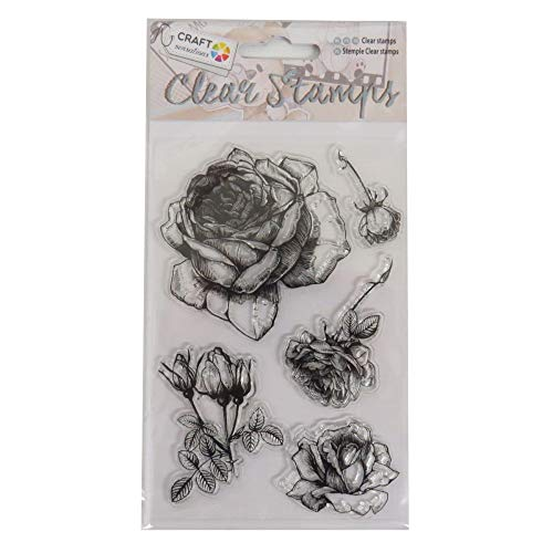 Craft Sensations klar Dekorative Briefmarken–Rosen Design