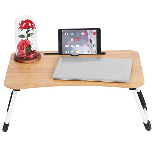 Portable Laptop Stand Holder Study Table Desk Wooden Foldable Computer Desk For Bed Sofa Tea Serving Table Stand