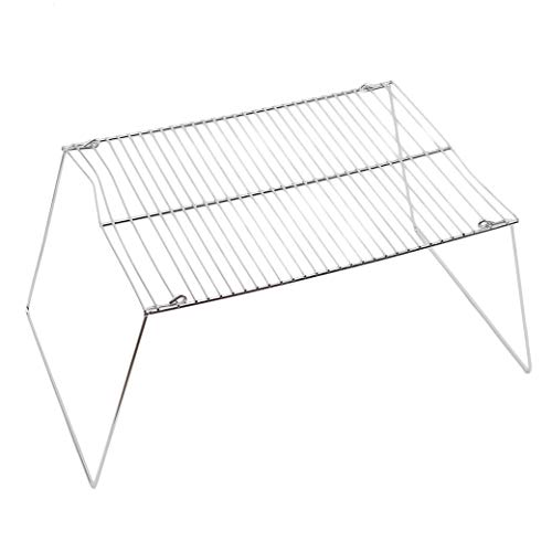 folding campfire grill rack with