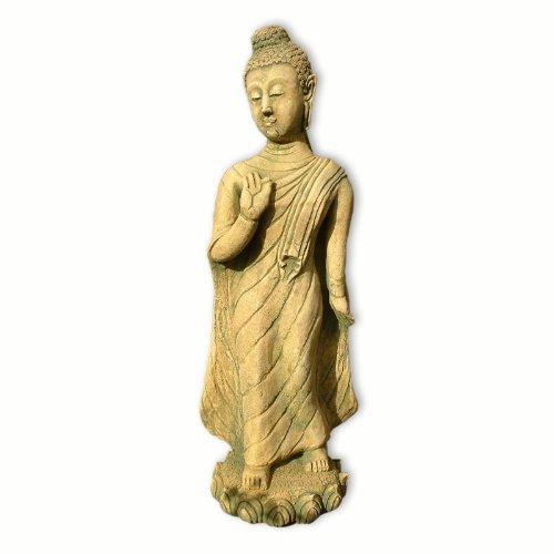 Bouddha debout jaune-vert (10213)