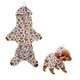 Fydun Abrigo de Invierno para Perros, Chaquetas de Franela Sandy para Perros, Ropa de Mono para Perros de Clima frío, Pijamas cálidos de Invierno, Disfraz de Estrella para Gatos y Perros(S)