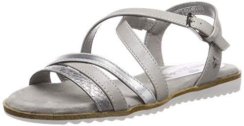 TOM TAILOR Damen 6991307 Riemchensandalen, Silber (Silver 00017), 40 EU