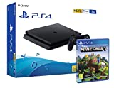 PS4 Slim 1Tb Negra Playstation 4 Consola + Minecraft 'Bedrock'