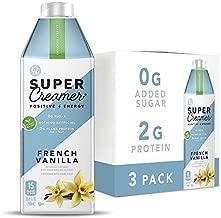Kitu Super Coffee Plant Based Keto Coffee Creamer   0g Added Sugar, 2g Pea Protein, 15 Calories [French Vanilla] 25.4 Fl Oz, 3 Pack