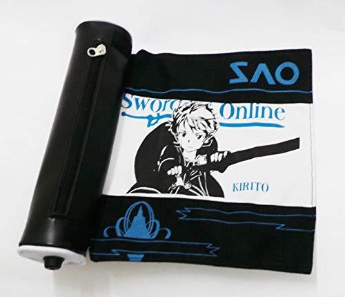 Koupany Anime Zwaard Kunst Online Potlood Case Canvas Grote Capaciteit Pen Case Scroll Pen Case Student Pencil Case