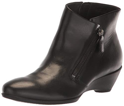 ECCO womens Sculptured 45 Wedge Zip Ankle Boot, Black, 10-10.5 US