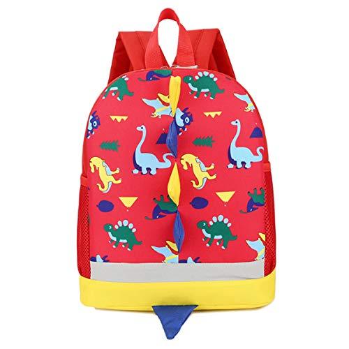 Kinderrucksack, Kleiner Tagesrucksack für den Kindergarten, Wanderrucksack für Baby Jungen Mädchen Kleinkinder Rot