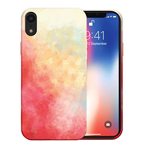 Funda para iPhone XS MAX Apple Case,Fundas iPhone XS MAX De Líquida Silicona TPU Antigolpes Flexible Fundas,Cubierta a Prueba De Golpes con Forro De Microfibra (Rojo Amarillo, iPhone XS MAX)