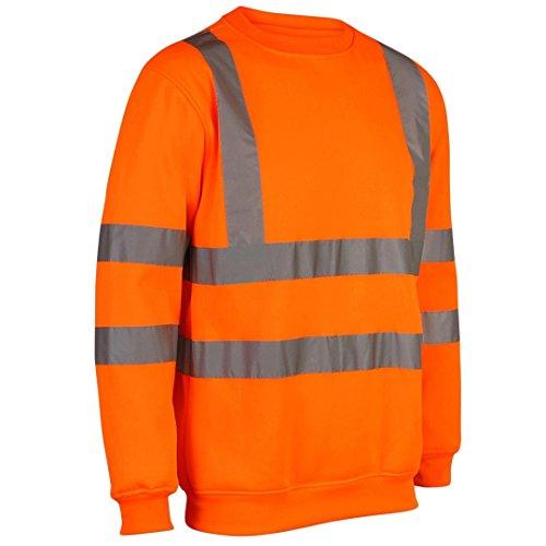 Sudadera de seguridad MyShoeStore®, de alta visibilidad, ropa de trabajo, talla S a 5XL Naranja naranja Medium