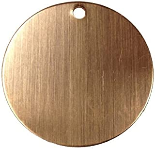RMP Stamping Blanks, 1-1/2 Inch Round with Hole, 16 oz. Copper 0.021 Inch (24 Ga.) - 10 Pack