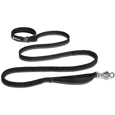 Ruffwear Roamer Extending Dog Leash, Obsidian Black (2018), 7.3-11 ft