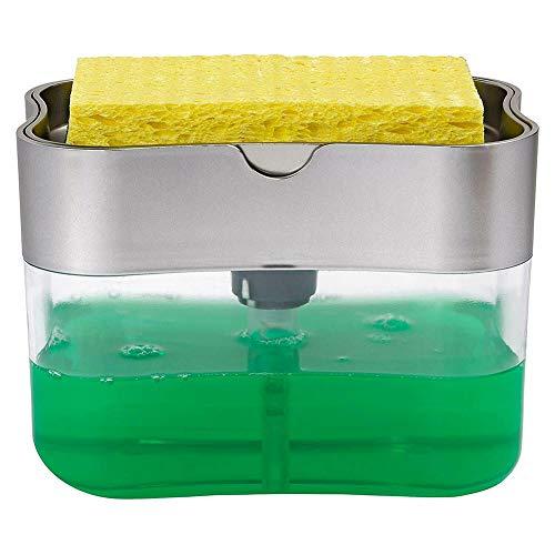 Starall Soap Pump Dispenser Sponge Holder for Dish Soap Sponge Kitchen Tool