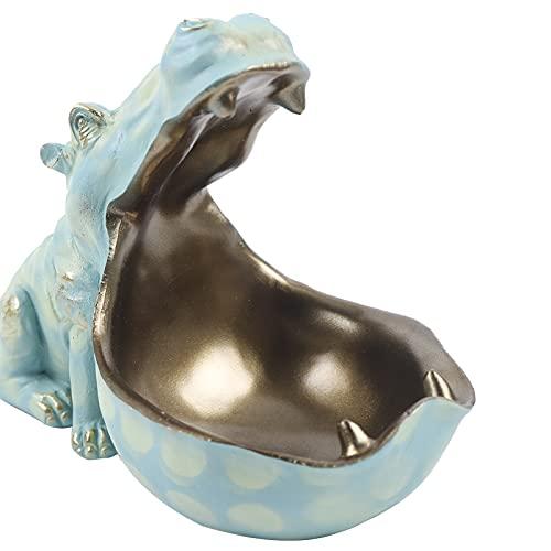 Estatua de hipopótamo – Bandeja para llaves Big Mouth Hippo – Bandeja para llaves – Decoración para mesa para bolsos, relojes, llaves, monedas