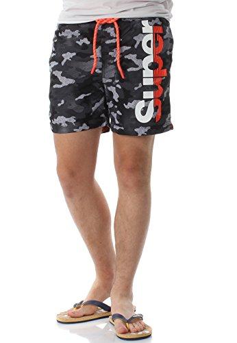 Superdry zwemshort heren State Volley Swimshort Silver Grey Grit Camo