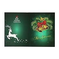 メッセージカード 絵画クリスマスカード刺繡バースデーペーパーDIYグリーティングポストカード漫画クラフトキッズギフト 子供 誕生日 新年 (Size:260 X 180 Mm; Color:06#)