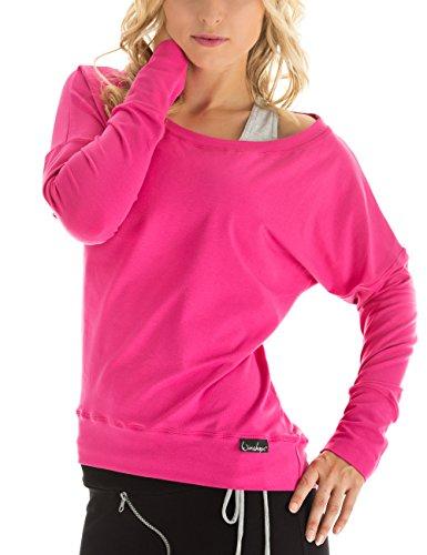 WINSHAPE Damen Longsleeve Freizeit Sport Dance Fitness Langarmshirt, pink, L