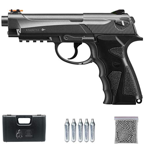 Ecommur Sport 306M CO2 (Full Metal) | Pistola de balines (perdigones: Bolas BB's de Acero) y Aire comprimido Calibre 4.5mm Tipo Beretta 92