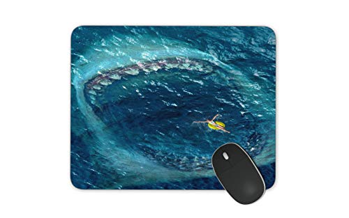JNKPOAI Sea Shark Mouth Mouse Pad Mouse Pad for Laptop Computers Custom Mouse Pads (Shark, Square)