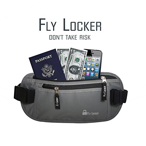 Money belt rfid blocker plus bonus passport holder