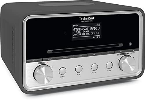 TechniSat DIGITRADIO 585 – DAB+ Hybridradio (Internetradio, UKW, Bluetooth, Spotify, Wireless Charging, App- u. Alexa Sprachsteuerung, OLED-Display, USB, CD, MP3, Kompaktanlage, Kopfhörer)anthrazit