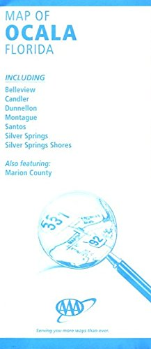 MAP OF OCALA /FLORIDA / HUGE FOLDOUT /INCLUDING BELLEVIEW /CANDLER /DUNNELLON+++