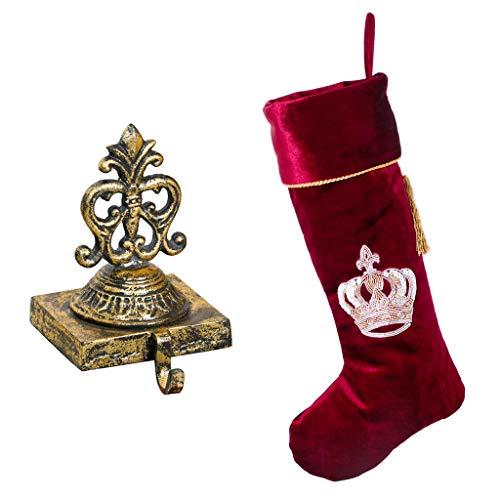 Dibor oro in ghisa per calza e velluto rosso Royal Crown calza (B675+ B665)