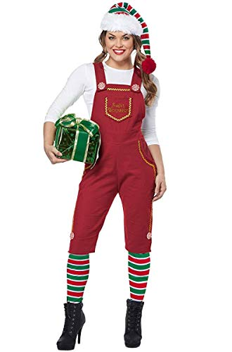 California Costumes Women's Santa's Workshop Elf-Adult Costume, RED, Medium