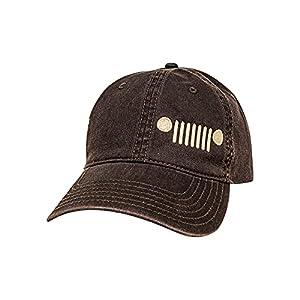 Jeep Grille Logo Garment Washed Hat Black