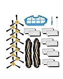 ALBBMY Pieza de Repuesto de aspiradora Fit for filtros de aspiradora robótica Ecovacs Deebot N79S N79, cepillos Laterales, Cepillo Principal