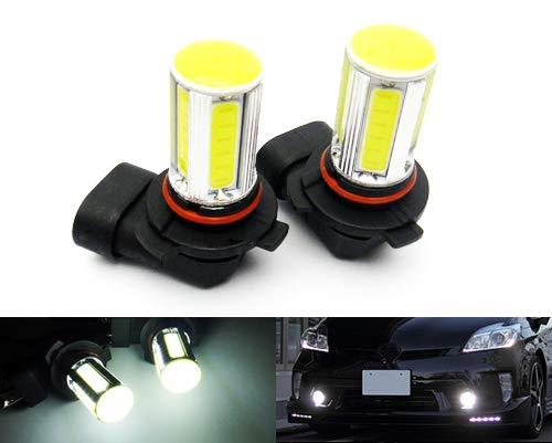 2 x Blanc 9006 HB4 ampoule LED COB Feu de position latéral Indicateur de circulation diurnes DRL lampe de brouillard