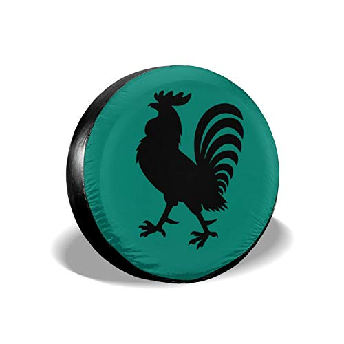 Tumskra Spare Wheel Tire Cover Bags Rooster Tire Covers Seasonal Tire Covers Tire Cover for Fits Tire Diameter 14 Inch Tire Covers Car tyre Bags Spar