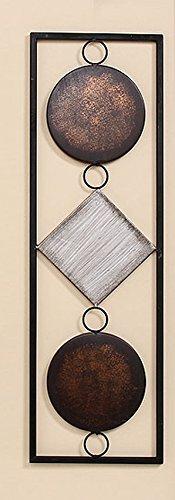 Pared objeto de metal marrón/beige, 65cm de alto,–Cuadro de Pared Decoración