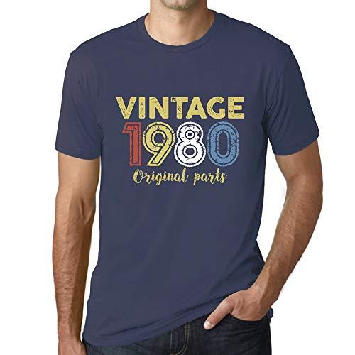 Ultrabasic - Hombre Camiseta Gráfico tee Shirt 1980 Cumpleaños de 41 años Original Parts Azul Oscuro